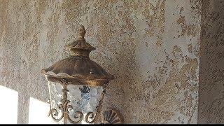 Декоративная отделка камнем травертин из декоративной штукатурки Oikos