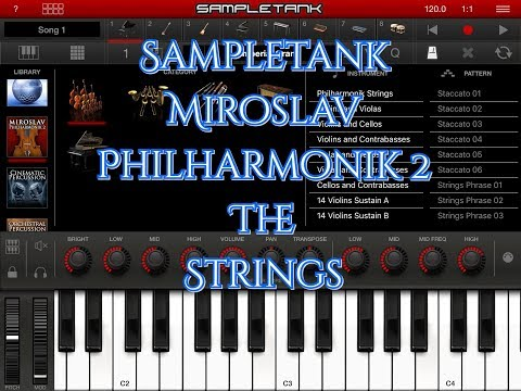 SAMPLETANK Miroslav Philharmonik 2 The Strings Section Demo For IPad