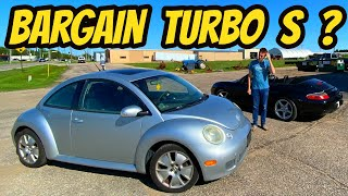 This $700 VW Beetle Turbo S Wants To Be A Porsche SO BAD! Cheapest Beetle?