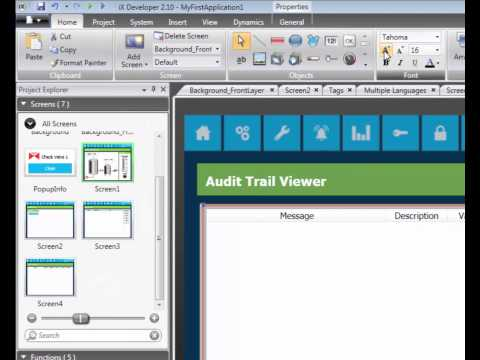 Add and configure Audit Trail in iX Developer, Video 7 by Beijer Electronics