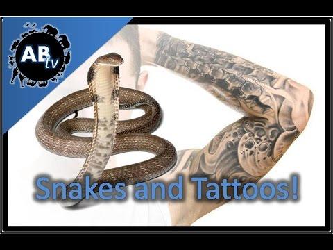 Snakes and Tattoos! SnakeBytesTV  :AnimalBytesTV