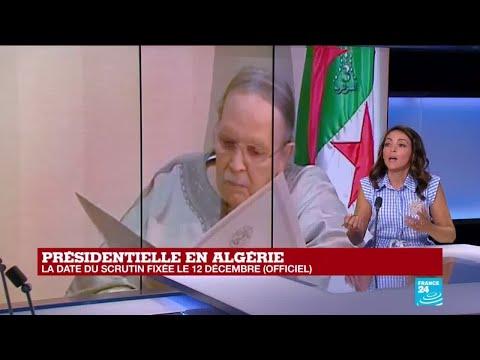 Élection présidentielle algérienne fixée au 12 décembre :