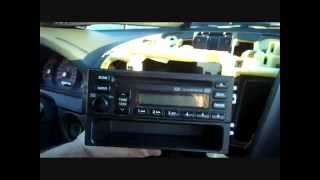 How to Kia Sorento Car Stereo Removal 2003 - 2006 repalace repair  cd