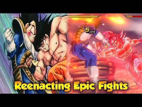 Goku vs Vegeta! Anime Recreation! Xenoverse 2 Edition - Dragon Ball Xenoverse 2