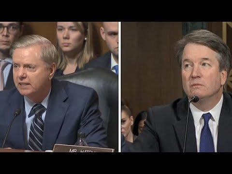 """Sen. Lindsey Graham tells Kavanaugh: """"This is the most unethical sham"""""""