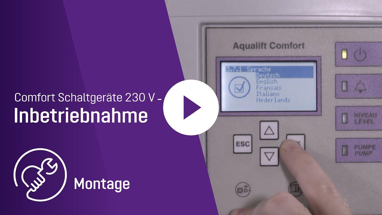 Montagevideo Inbetriebnahme Comfort Schaltgeräte 230 V - YouTube