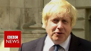 Boris Johnson: Brexit vote does not mean 'in any sense' leaving Europe - BBC News