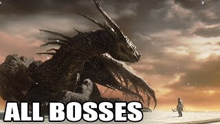 Dark Souls II: Scholar of the First Sin - All Bosses (With Cutscenes) HD