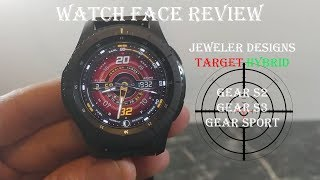 Watch Face Review : Target Hybrid Gear S2 Gear S3 Gear Sport