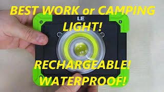 REVIEW Lighting EVER 20W LED rechargeable Work Light IP44 Waterproof