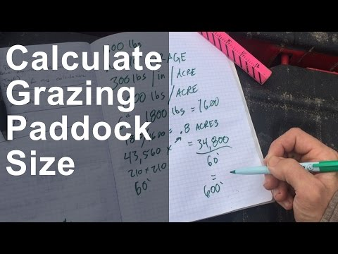 Calculating Grazing Paddock Size