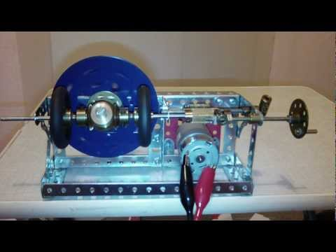 Meccano differential type variable speed gear