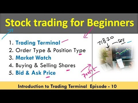 Real Stock Trading for beginners | Trading Terminal | Bid & ask Price Concept in Hindi | Episode-10