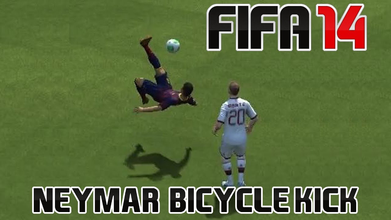 Fifa 14 | Awesome Neymar Bicycle kick goal! - YouTube