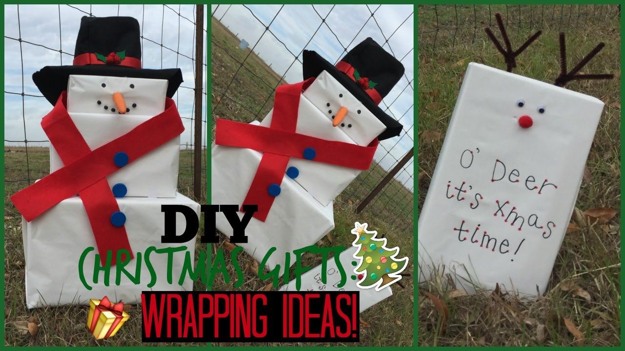 Diy Christmas Gift Wrapping Ideas Snowman And Reindeer