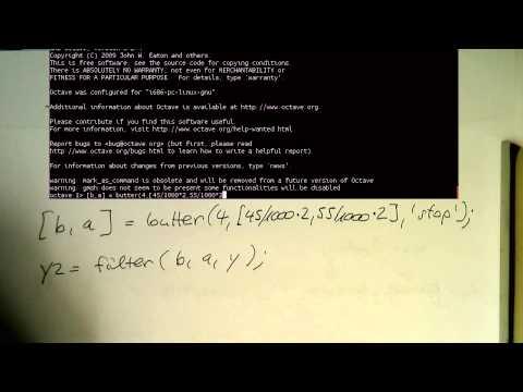 High-level IIR design commands: bandstop filter example (0005)