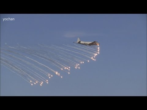 "Demonstration of Flare.P-3 Orion Maritime patrol aircraft.Fleet Review ""Naval Review"""