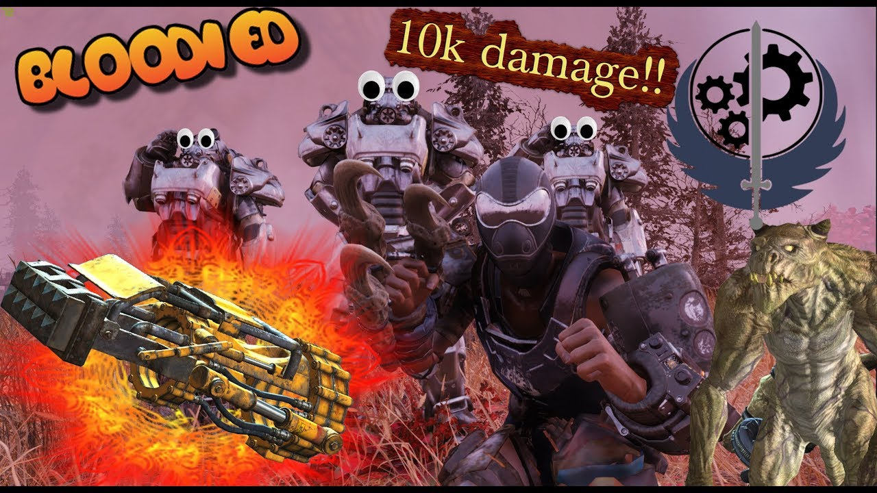 BLOODIED DEATH CLAW AND POWERFIST    Up to 10k DAMAGE!    Weapon Showcase     Fallout 76
