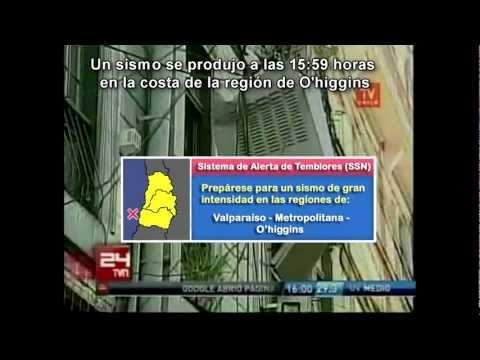 (2) Sistema de Alerta de Sismo (EEW / EEA Chile) 27-02-2010