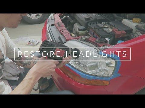 Restoring My Headlights   Harbor Freight Kit