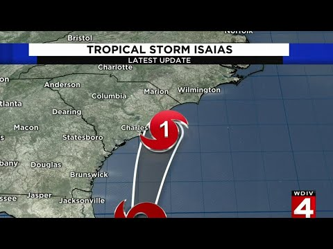 Tracking Tropical Storm Isaias -- Aug. 3, 2020