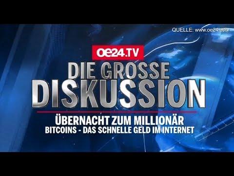 Über Nacht zum Millionär - Diskussion zu Bitcoins auf OE24.TV