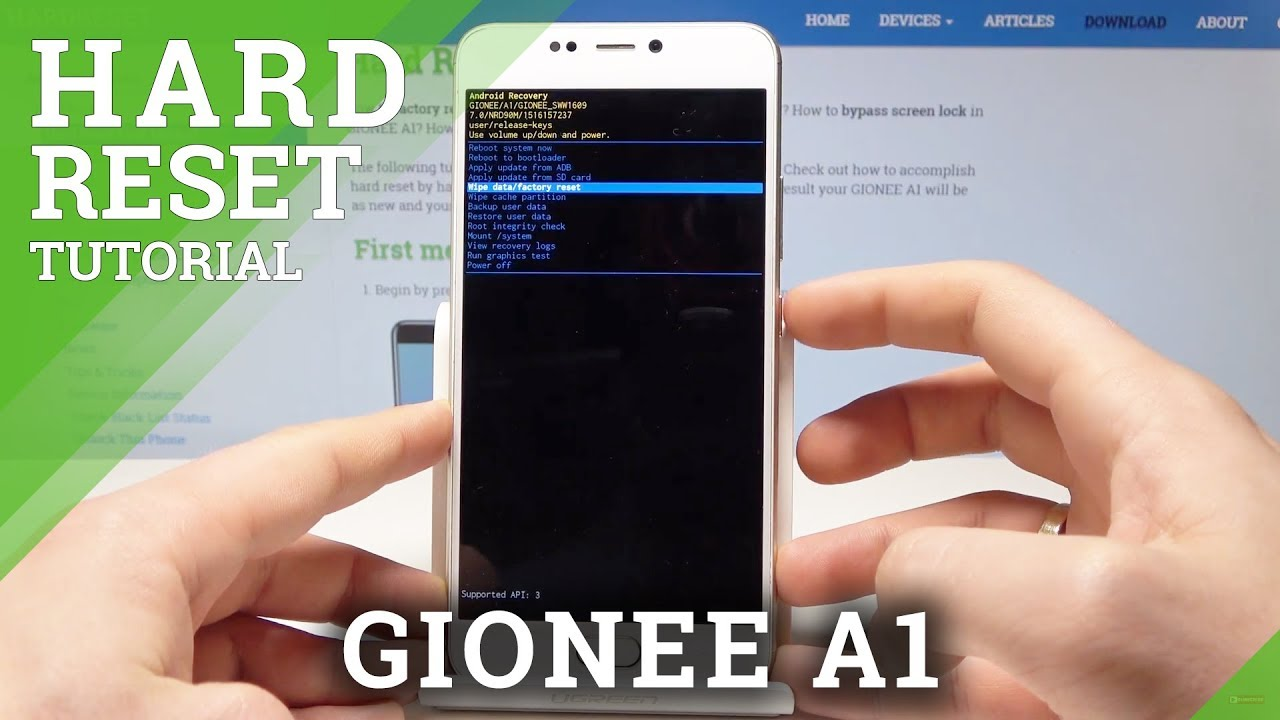 How to Hard Reset GIONEE A1 - Bypass Screen Lock