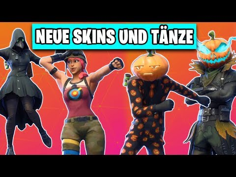 Alle NEUEN HALLOWEEN Skins und Tänze INGAME 👻🎃 | Fortnite Season 6 Deutsch German