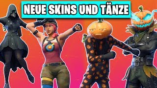 All NEW HALLOWEEN Skins and Dances INGAME 👻🎃 | Fortnite Season 6 German German
