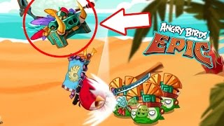 Angry Birds Epic: Gameplay (Red Elite Stone Guard & Chuck Vs. Boss Pigmies) Return To The Jungle