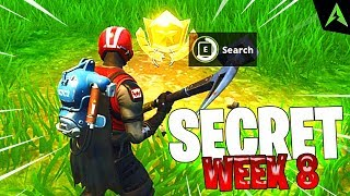"""Search Between A Bear, Crater, And A Refrigerator Shipment"" - Fortnite *LOCATIA* Pe Harta! (Week 8)"