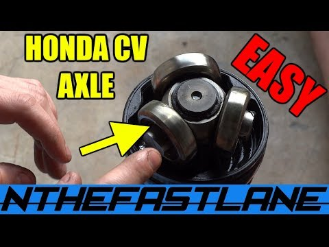 "CV Axle Re-Grease Honda ""How To"""