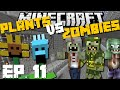 Minecraft: Plants Vs Zombies Mod Escape From Alcatraz - Cops And Robbers Mod Survival Game Ep 11