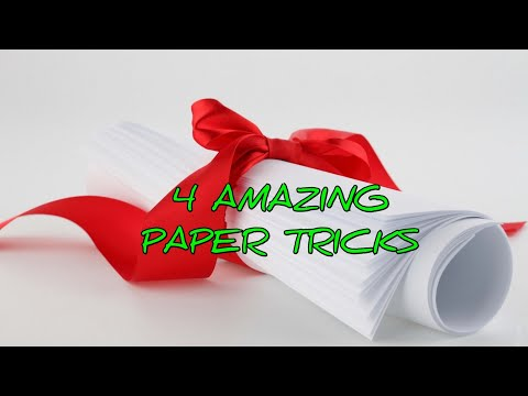 4 Amazing life hacks with paper, 4 tricks you can try just anywhere