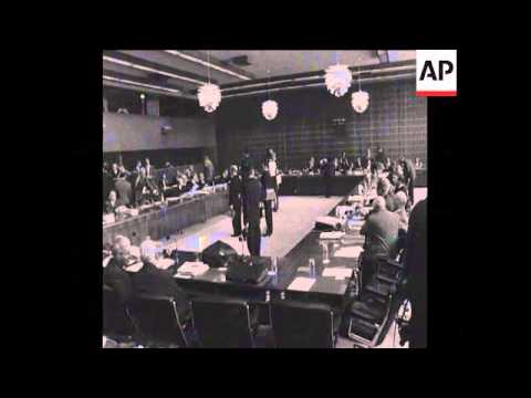 SYND 12/05/69 COMMON MARKET FOREIGN MINISTERS AT LUXEMBOURG CONFERENCE