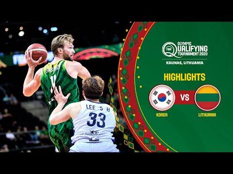 Korea - Lithuania   Game Recap - FIBA Olympic Qualifying Tournament 2020