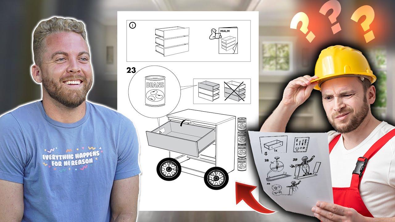 Making Fake Directions & Hiring Someone to Build my IKEA Furniture
