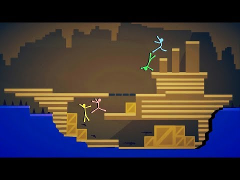KING OF THE SHIPS! - Best Stickfight Maps! - Stick Fight Custom Maps Multiplayer
