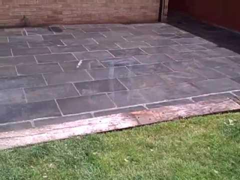 Slate Tile Patio   YouTube