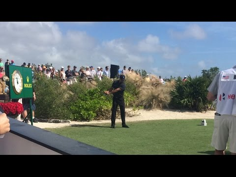 Tiger Woods tees off at Hero World Challenge