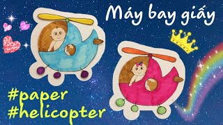 How to make a PAPER HELICOPTER | how to draw a helicopter | HAPPY DOLLS #papercraft #paperdolls