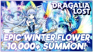 Dragalia Lost | 10,000+ Wyrmite NEW Winter Flower Summons! Can we pull Lily and Leviathan?!