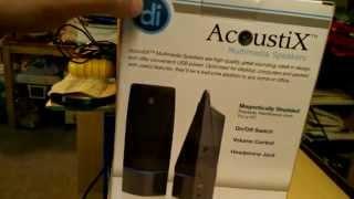 AcoustiX Multimedia Speakers Overview