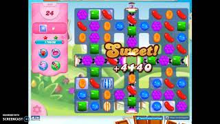 Candy Crush Level 1096 Audio Talkthrough, 3 Stars 0 Boosters