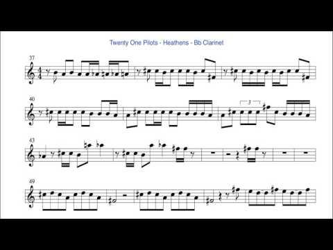 Twenty one Pilots - Heathens - Cover (Bb Clarinet) Notes