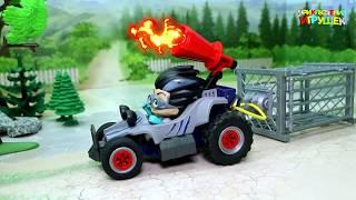 Мультики для детей про машинки и животных с игрушками Герои в масках Заработать деньжат