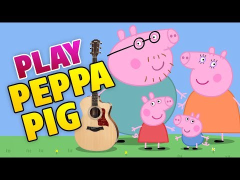 Peppa Pig Guitar Cover Tutorial Lesson Tab Easy Guitar For Kids Youtube