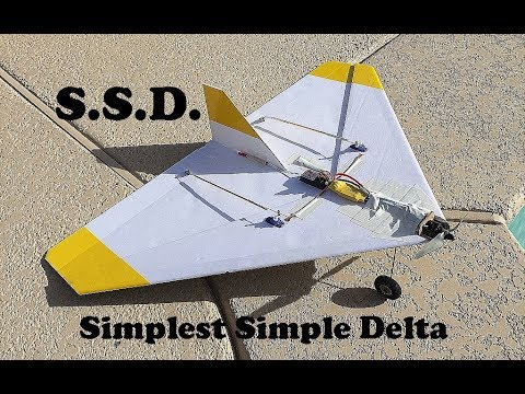 """Simplest Simple Delta"" Scratch Built RC Flying Wing"