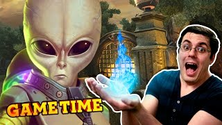 SMITING ALIENS AND MONKEYS! (Gametime w/ Smosh Games)