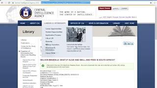 Mandela Effect Proof: Mandela Died In Prison Declassified CIA Files